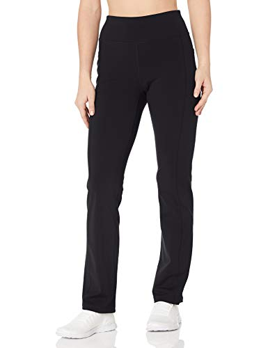 Skechers Go Walk Joy High Waisted 4 Pocket Slight Flare Leg Pant Pantis, Negro, XL para Mujer