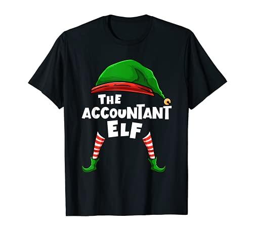 El contable Elf Family Grupo de Navidad a juego PJ regalo Camiseta