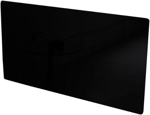 Home - Placa cubreradiadores, cristal, 1200 mm, color negro
