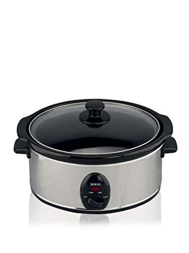 Sogo ARR-SS-10055 Cocotte de cuisson lente, 200 W, Gris et noir