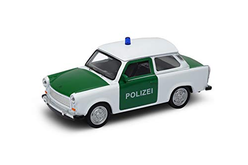 Welly-OOTB Original lizenziert Trabant 601 Modell-Auto DDR Trabbi Maßstab 1:34 Modell Auto, Sammlerstück (Polizei)