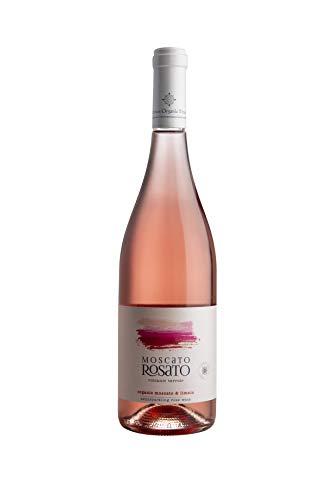 Limnos Organic Weine - Muscat Rosato - Alexandrias-Limnio - Bio Rosé Halb-süßer Perlwein - Glas Flasche, 750ml