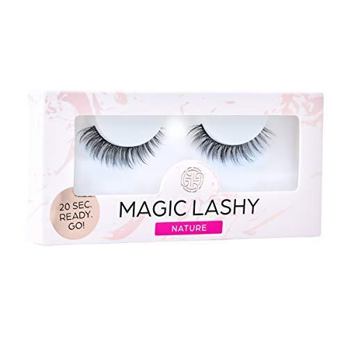 MAGIC LASHY – Nature || vegane, falsche Wimpern | professional Wimpernband (ohne Wimpernkleber) | schwarz, black | leicht, wiederverwendbar