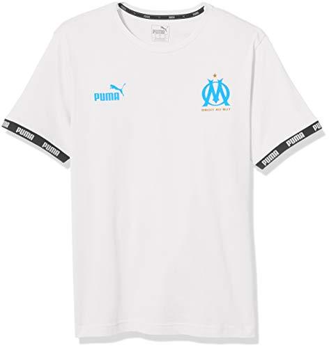 PUMA Herren Olympique de Marseille FTBL Culture Tee T-Shirt, White, Medium