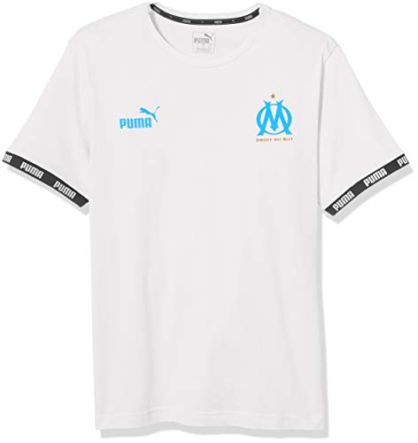 PUMA Mens Olympique de Marseille FtblCulture T-Shirt Medium, PUMA White