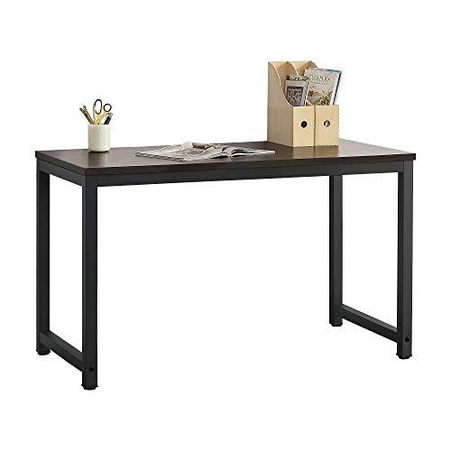 [en.casa] Schreibtisch Herning in Schwarz und Walnuss-Optik Höhenverstellbar Bürotisch 75x120x60cm Computertisch Tisch Arbeitstisch Laptop-Tisch