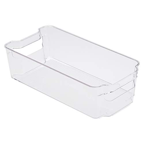 AmazonBasics - Recipiente de plástico para frigorífico, mediano (paquete de 2)