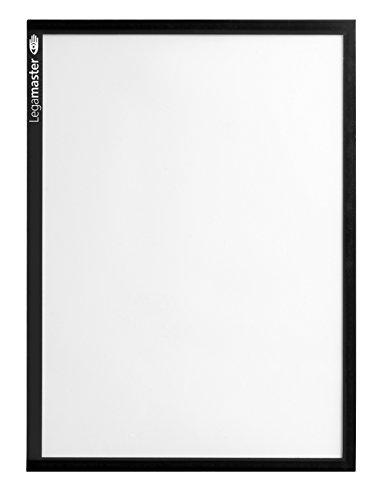 Legamaster 7-635701 Magnetische Dokumentmappen, DIN A3, 5 Stück, Schwarzer Rahmen, Transparente PVC-Fläche