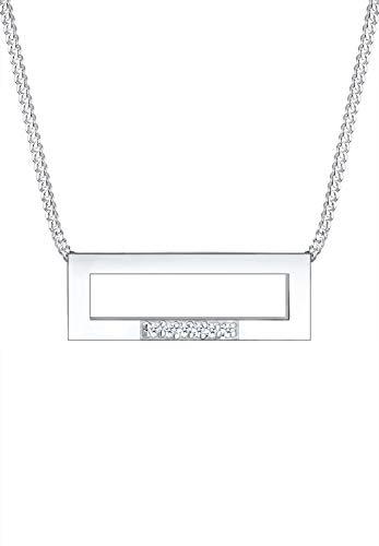 Elli Collar con colgante de mujer con plata, diamante, 45 cm