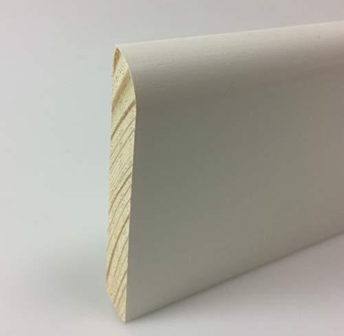 IE-1058-S4-2400 - Rodapié de madera barnizada - 10x58mm - 4x pzas a 2400m - TOTAL 9,6 Metros - color blanco