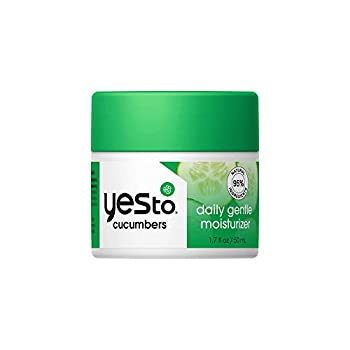 Yes To Cucumbers Daily Gentle Moisturizer 1.7 Fl Oz I Sensitive Skin I Hydrate I Aloe + Sweet Almond Oil I Vegan I 95% Natural Ingredients
