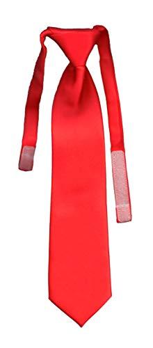 Cravate enfant unie solid bright red VII