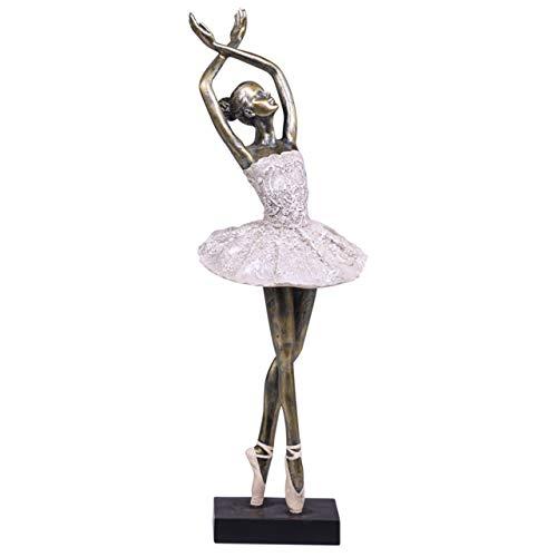 Chic Antique Denmark Ballerina tanzend 41cm Gold Creme