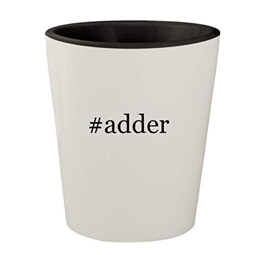 #adder - White Outer & Black Inner Hashtag Ceramic 1.5oz Shot Glass