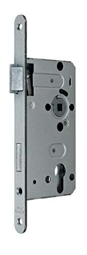 BKS Standard Zimmer Türschloss für Profilzylinder 55/72/8, Stulp: 18 x 235mm abgerundet, DIN Links incl. SN-TEC® Montageset