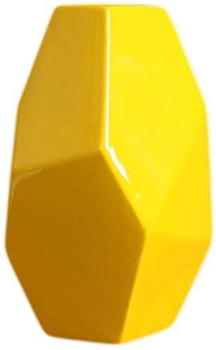 Florero Mesa de Comedor Florero de ceramica Decoratio Accesorios para el hogar Sala de Estar Gabinete de TV Decoratio Arreglo Floral Creativo Amarillo Grande Mediano Pequeno Irregular Mini Florer