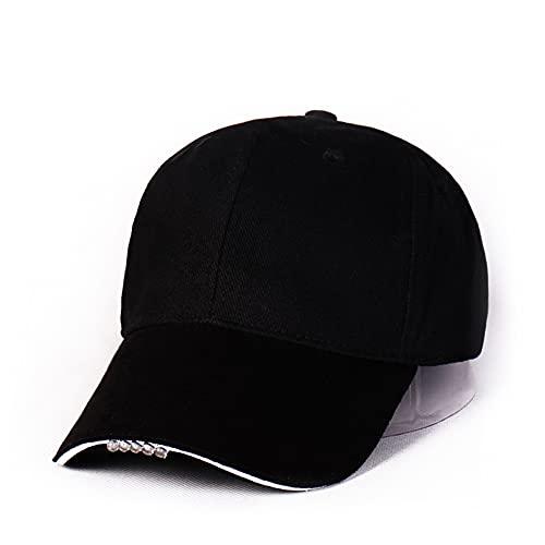 LED Hat Cotton Hands Free Flashlight Baseball Cap Camping Headlamp Sports...