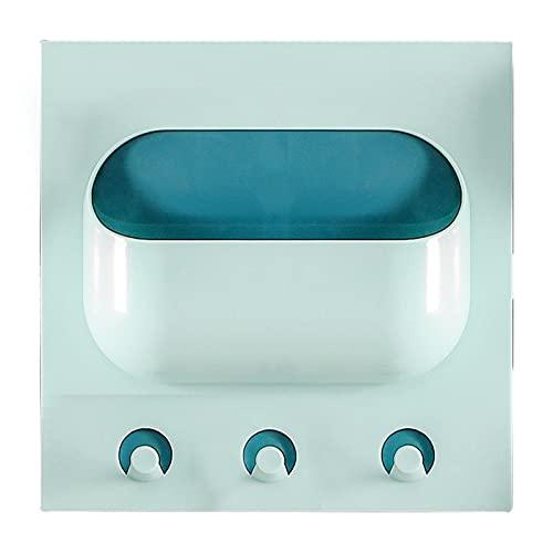 LSDC Estante de baño estantería Creativa Estante Estante Multifuncional casa Diario Producto Organizador Caja Cocina Soporte de Almacenamiento montado en el baño 505 (Color : Blue 1)
