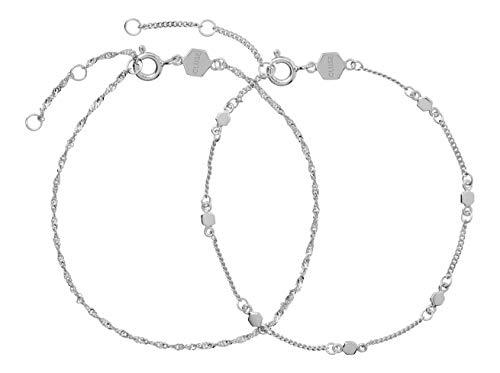 CLUSE Damen-Gliederarmbänder Versilbert CLJ12019