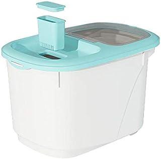 YWSZJ Riz Container Distributeur Alimentaire Mesureur Boîte de Rangement Bins Airtight Farine Grain Céréales Container ant...