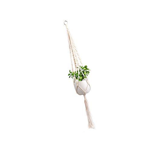 ExeQianming - Colgador de plantas para macetas de interior y exterior, para plantas de techo de patio (blanco)