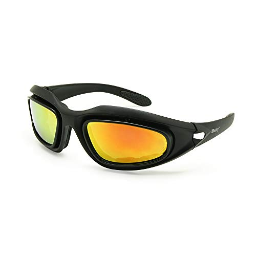 Daisy One C5 Dirt Bike Militar ATV Gafas polarizadas Kit de 4 lentes Deportes al aire libre Motociclismo Gafas Juego de guerra Gafas de sol del ejército