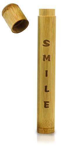 Premium Zahnbürstenhülle aus Bambus - Perfekt für Reisen - Umweltfreundliche Hülle für deine Zahnbürste - Reise Etui - Toothbrush Case Bamboo