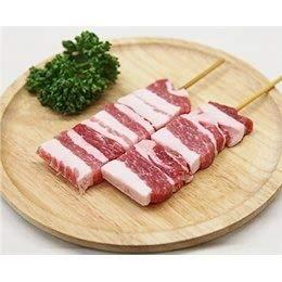 豚バラ串 40g×10本 外国産豚 (15cm丸串)(pr)(46320)(やきとん)