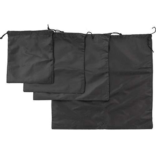YanyanDz Bolsa de viaje de gran capacidad impermeable y a prueba de polvo con cordón impermeable bolsa de almacenamiento portátil negro grande