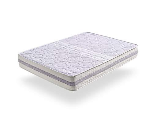 ECCOX - Colchón Viscoelástico Dream Aloe Vera - Altura 19 cm - Núcleo de HR Pro de Alta Densidad - Máximo Confort Efecto Nube - Firmeza Media (150x190 cm)