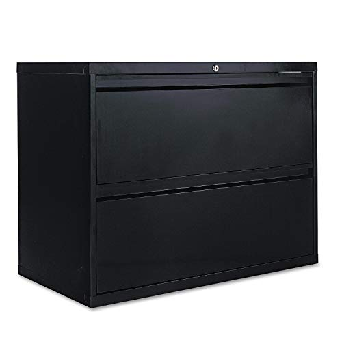 Alera 2-Drawer Lateral File Cabinet, 36 by 19-1/4 by 29-Inch, Black