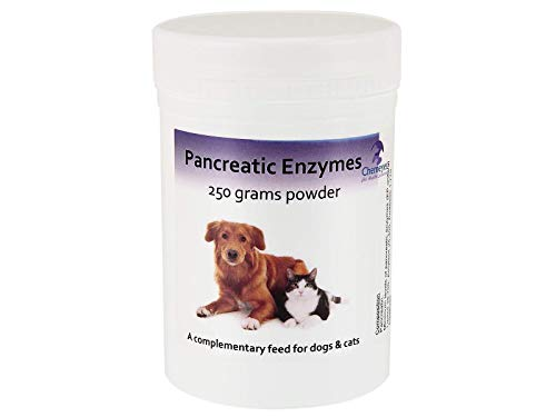 High Strength Pancreatic Enzyme Powder for Dogs & Cats - 250g - Digestive Remedy - Chemeyes