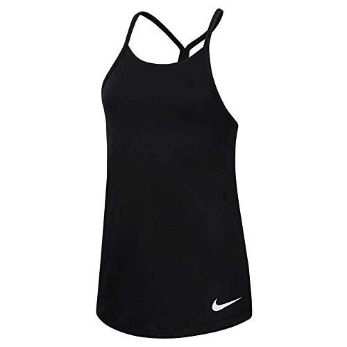 Nike G Nk Dry Elstka, Canottiera Sportiva Bambina, Black/White/(White), L