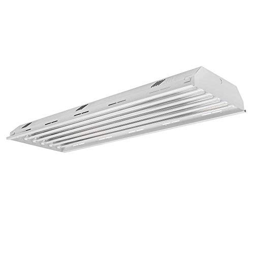 6 Lamp/Bulb LED High Bay Light Fixture, 400W Metal Halide Equal, 4000K (Cool White), 17,160 Lumens, Indoor Shop Warehouse Industrial Commercial Grade DLC Premium and UL Listed LED Bulbs Included