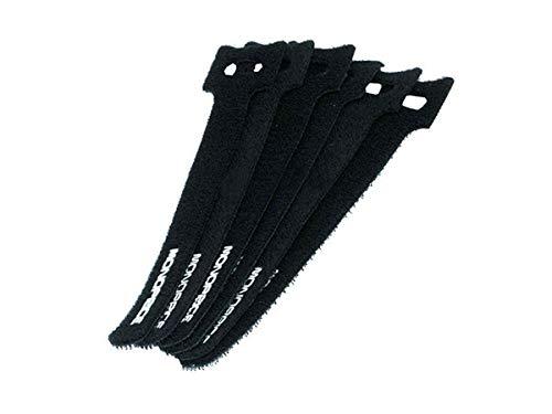 Monoprice Hook and Loop Fastening Cable Ties 6 in 50 pcs/pack Black