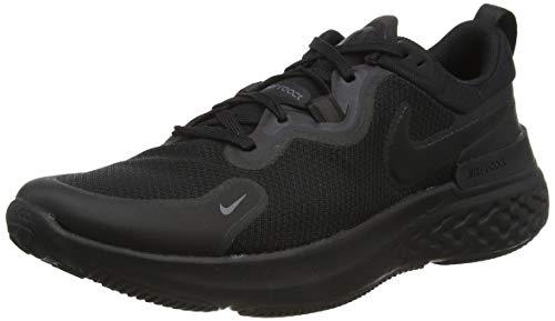 Nike React Miler, Zapatos para Correr Hombre, Black/Black/Iron Grey/White, 44 EU
