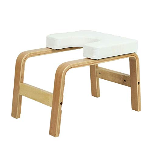 Hazjje-zatr061 Inverted Chair Yoga Auxiliary Chair Ergonomic Design Makes The Inverted Stand Easier Home Fitness Inverted Stool Wooden Inverted Machine Inverted Yoga Lovers Gift ( Color : White )