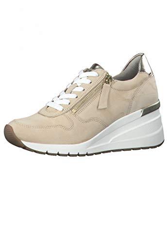 Tamaris Damen Low Sneaker Lace Up 1-23797-26 Beige, Groesse:39 EU