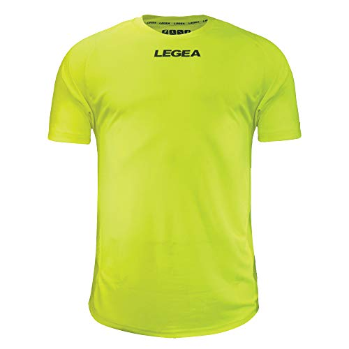 Legea Crimea Maillot multisport manches courtes Homme - Jaune (Giallo Fluo 0040) - FR : L (Taille Fabricant : L)