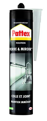 Pattex - Pegamento de fijación especial de cristal, masilla de fijación transparente para todos tus adhesivos, tanto en interiores como en exteriores, cartucho de 300 g