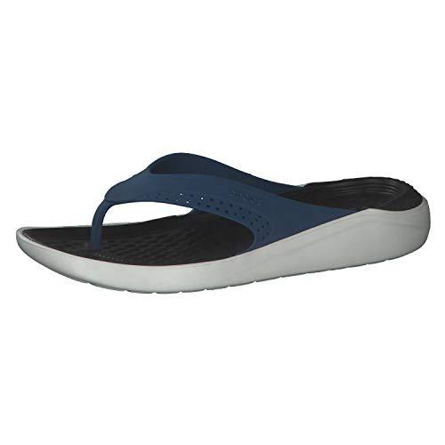 crocs Unisex LiteRide Flip Flipflop, Vivid Blue/Almost White, 38/39 EU