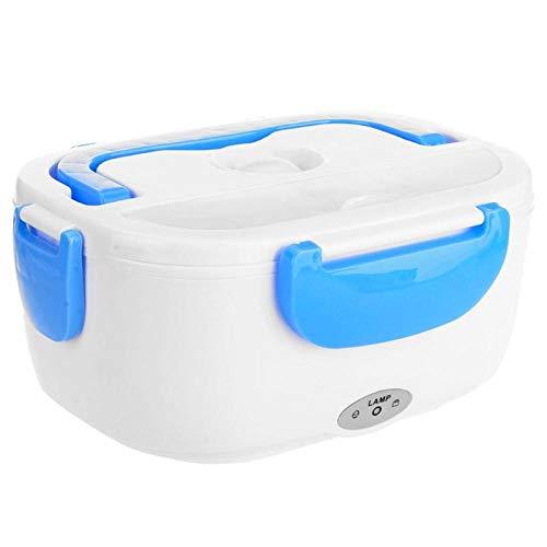 SISHUINIANHUA 2 en 1 Voiture Et Maison Chauffant Chauffant Boîte Portable Récipient De Riz,Bleu