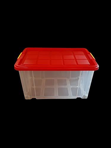 WieWin Eurobox mit Deckel rot und Rollen...