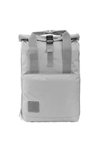 M13 RollTop Daypack - wasserdichter Roll Top Rucksack (15L), Kurierrucksack mit Innenfach, wasserabweisendes Material, verstellbare Gurte (Manufaktur13) (AshGray)