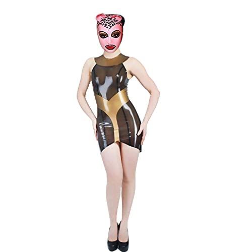 SZLX Ropa de látex Ropa de látex Sexy Vestido Ajustado Barra de espectáculo de Escenario Sexy Cosplay White_S