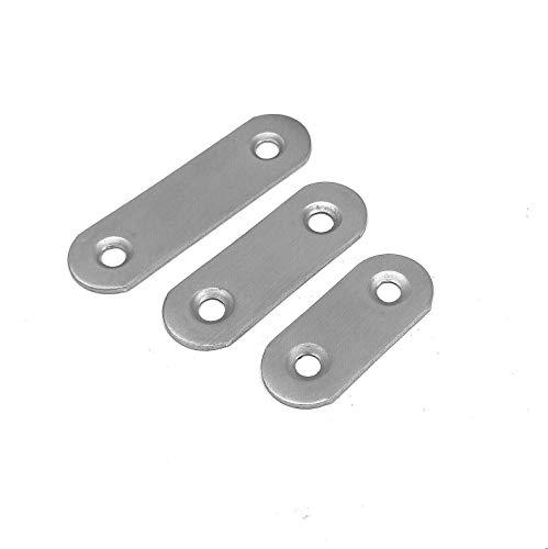 20 Stück Edelstahl Lochplatte Holzverbinder Lochblech Flachverbinder Verbinder (48x16mm)