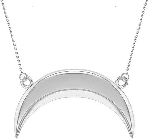 NC110 Pendant necklace 925 Sterling Silver Upside Down Moon Crescent Pendant YUAHJIGE