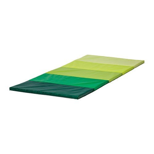 IKEA PLUFSIG Gymnastikmatte in grün; faltbar; (78x185cm)