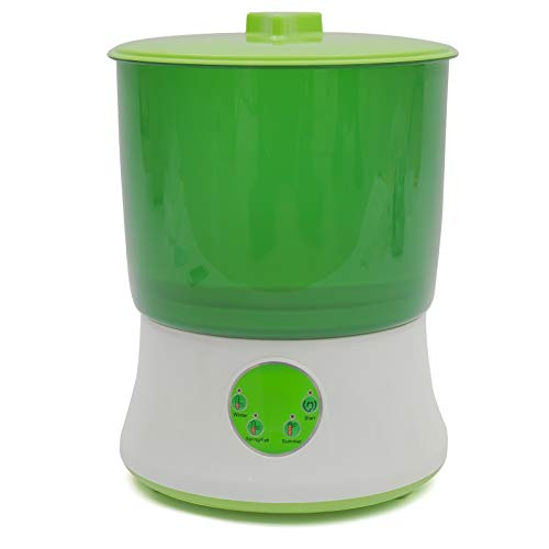 Seed Sprouter 2 Layers Bean Sprouts Machine Automatic Intelligence Electronical Seed Sprout Maker Homemade, Food Grade, 360 Degree Sprinkler