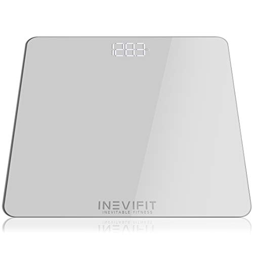 INEVIFIT Bathroom Scale Highly Accurate Digital Bathroom Body Scale Measures Weight up to 400 lbs Includes Batteries